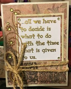 Lord of the Rings inspired birthday card. The Whimsy Co.