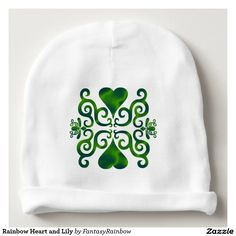 #NEW #Rainbow #Heart  and #Lily #Baby #Beanie - #Christmas #Gift #forKids #Offer 20% Off All Orders | 50% Off T-Shirts, Mugs, Pillows, Tote Bags & Stickers! TODAY ONLY Use Code: ZAZCRAZYFIVE