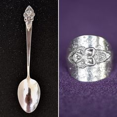 """@lady.rock.crafts on Instagram: """"How to reconnect with our past lives  🥄🔨💍 .925  #spoonring #spoonrings #diyrings #crafts #craftproject #jewelry #jewelryphotography…"""" Diy Rings, Jewelry Rings, T Shirt Remake, Spoon Rings, Old T Shirts, Rock Crafts, Jewelry Photography, Past Life, Forks"""