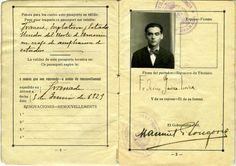 Pasaporte de Federico García Lorca
