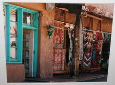 Colour/print inspiration  Downtown Santa Fe, New Mexico: southwest, woven rugs, turquoise, adobe