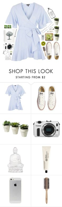 """""""imperfection."""" by schaks ❤ liked on Polyvore featuring Topshop, Converse, Muji, Eos, BOBBY, Lalique and Philip Kingsley"""