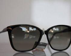 Vintage Polaroid Black Frame, Gold,  Polarizing Lenses POLAROID LOOKERS 8540. Made in Italy. Collectible. Sunnies, Sunglasses, Vintage Polaroid, Lenses, Eyewear, Italy, Frame, Gold, Black