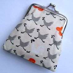 Orange Hens Print Small Coin Clasp Purse by CourtandSparkUK, £7.50