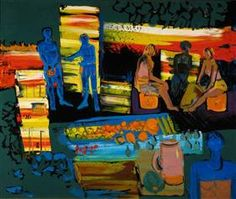 African Night Market Artist: Walter Battiss Completion Date: 1965 Style: Expressionism Genre: genre painting Walter Battiss, Frida Artist, Georges Braque, South African Artists, Abstract Painters, Art Database, Matisse, Van Gogh, Great Artists