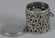 Circa 1900, American, Sterling Silver, Filigree Thimble Holder / Case by Unger Bros.  Unger Bros. was one of the most creative and premier