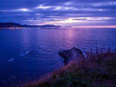 Blue Sunset - Getxo (Basque Country)  by Vinaixa - http://vinaixa.org/photonoise/basque-coast-line-i
