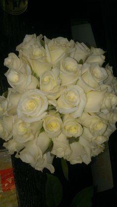Beautiful white wedding bouquet! americasflorist.com
