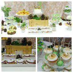 Mesa dulce boda verde y violeta