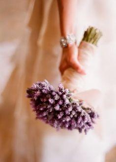 A sweet lavender #bouquet. #wedding (Photo by: Elizabeth Messina)
