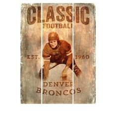 Fan Creations NFL Vertical Classic Football Graphic Art Plaque & Reviews   Wayfair