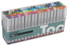 Shop Copic Original Marker - Set C Flesh Tones, Set of 72 at Utrecht. Your source for quality, professional art supplies. Copic Marker Set, Copic Markers Tutorial, Copic Sketch Markers, Marker Kunst, Set Fashion, Golf Fashion, Cute School Supplies, Alcohol Markers, Diy Origami