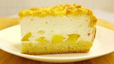 Нежный Пирог с воздушным Кремом и персиками. Тает во рту! - YouTube Cake Factory, Crumble Recipe, Sweet Cakes, Mini Cakes, Vanilla Cake, Creme, Biscuits, Cheesecake, Deserts