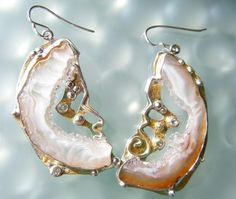 Durzy Geode Earrings   These are beautiful!!