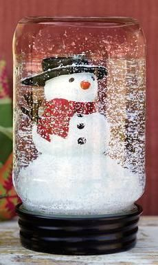 Recycle Reuse Renew Mother Earth Projects: How to make your own Mason jar Snow Globe