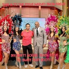 Tune in Friday to watch our client @bretthoebel on @iamsteveharveytv Brett shows Steve some Brazilian but lifting booty moves with some real Brazilian dancers. #getfit #motivate #20minutebody #2015