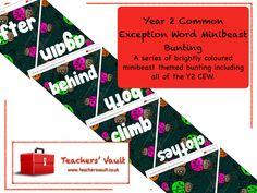 Minibeast Common Exception Word Bunting Display - KS1 English Teaching Resources and Classroom Displays