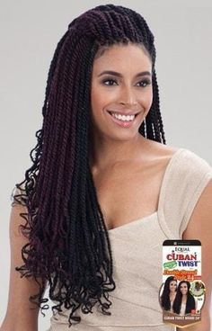 Freetress Equal Synthetic Hair Braids Double Strand Style Cuban Twist 24 Inches