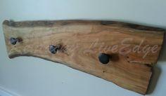 Natural Wood Coat Rack Live Edges Cherry Slab Hat Rack Key | Etsy