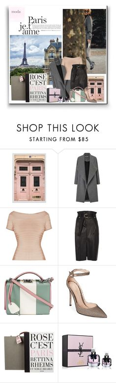 """""""Paris"""" by annazonno ❤ liked on Polyvore featuring Pottery Barn, Lonely Planet, Miss Selfridge, River Island, Mark Cross, Gianvito Rossi, Taschen and Yves Saint Laurent"""