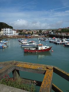 The harbour at Folkestone , Kent , England A birds eye view of Jayne's hometown!