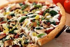 Eating healthier: Pizza  Pizzerias are accustomed to special orders -- and the following tactics can significantly reduce the calories and fat in pizza:  • Order a thin crust.  • Pile on veggies, and skip the meat.  • Ask for extra sauce and half the chee
