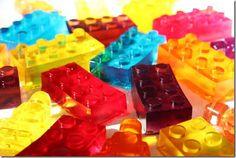Lego Jell-O, courtesy of Lemon Berry Moon. My kids hate jello but I have a feeling they would eat these just cuz they're fun! Lego Birthday Party, Birthday Parties, Birthday Cake, Jello Jigglers, Jello Shots, Yummy Treats, Sweet Treats, Jello Recipes, Jello Desserts