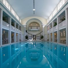 https://flic.kr/p/aEucDc | Springs Eternal 16/52 | The Bedford Springs luxurious indoor pool was built in 1905, and was one of the nation's first indoor pools. To this day the pool is still fed by the surrounding mineral springs, and temperature is kept at a constant 85 degrees. Project Wall52 Week 16 Espresso Time Photography