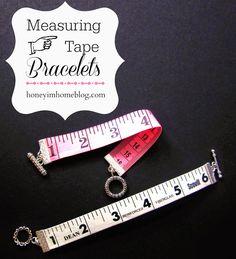 Honey I'm Home: Measuring Tape Bracelets