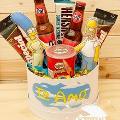 Diy Clay, Clay Crafts, Diy And Crafts, Candy Bouquet, Food Bouquet, Happy Fathers Day, Fathers Day Gifts, Simpsons Party, Cute Boyfriend Gifts