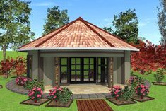 4 Corner House Plans New House Plan No Round House Round House Plans, Barn House Plans, Modern House Plans, House Floor Plans, Village House Design, House Front Design, Village Houses, Single Storey House Plans, Double Storey House