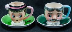 Vintage 'his and hers' cups