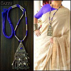 Diy Fabric Jewellery, Beaded Jewelry Designs, Thread Jewellery, Handmade Jewellery, Tribal Jewelry, Silver Jewellery, Pearl Jewelry, Jewlery, Ring Necklace