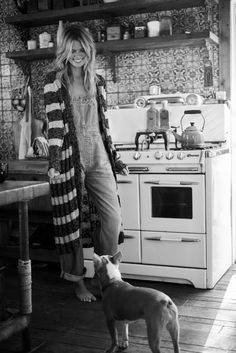 Dungarees and Knit Cardigan.