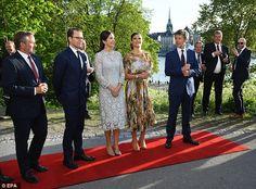 The Danish royals welcomed Crown Princess Victoria and her husband Princess Daniel for a dinner atEric Ericsonhallen at Skeppsholmen in Stockholm