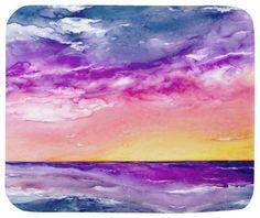Mousepad - Tormenta Ocean Painting - Art for Home or Office - traditional - Desk Accessories - Brazen Design Studio