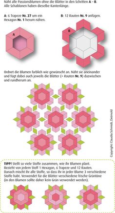 English Paper Piecing Instructions Passion Flower Passion Flower Tutorial