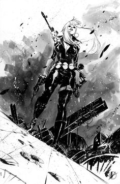 Striking Black & White Superhero Sketches by Matteo Scalera — GeekTyrant Comic Book Artists, Comic Artist, Comic Books Art, Marvel Art, Marvel Comics, Illustrations, Illustration Art, Comic Character, Character Design