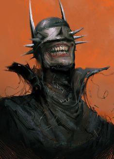 The Batman Who Laughs Art by Tris Baybayan Batman E Superman, Batman Comic Art, Joker Art, Batman Arkham, Batman Robin, Comic Villains, Comic Book Characters, Comic Books Art, Arte Dc Comics