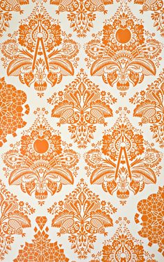 fruit & veggie inspired wallpaper, perfect for one or more walls of a kitchen or dining room. comes in 4 colors, or custom order your own color!
