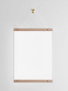 Poster hanger 31cm, oak Hanger, Poster, Walls, Furniture, Design, Home Decor, Picture Frame, Oak Tree, Group