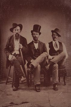 Jaunty hats and facial hair were big in 1870 America