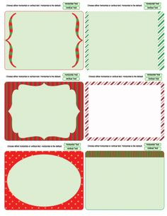 Christmas journaling cards