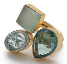 Gold-plated Brass Blue Chalcedony, Snake Skin and Jasper Adjustable Ringhttps://sitaracollections.com/collections/handmade-rings/products/gold-plated-brass-blue-chalcedony-snake-skin-and-jasper-adjustable-ring