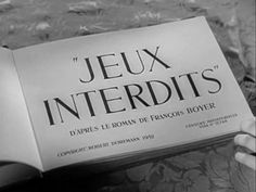 Jeux interdits movie title Art Of The Title, Roman, Opening Credits, Title Sequence, Title Card, Movie Titles, French Films, Motion Design, Love