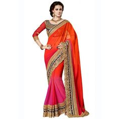 Majestic Georgette Embroidered Work Festive Wear & Party Wear Saree at just Rs.1020/- on www.vendorvilla.com. Cash on Delivery, Easy Returns, Lowest Price.