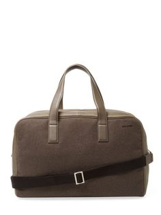 Adjustable Wool Overnight Bag by Jack Spade at Gilt