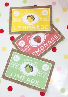 Labels - great colors, love the vintage feel