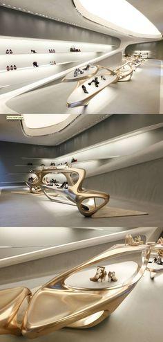 Stuart Weitzman flagship store by Zaha Hadid ||