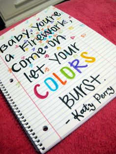 """Firework by Katy Perry, """"Baby you're a firework come on let your colors burst."""" #KatyPerry #Lyrics #Firework"""